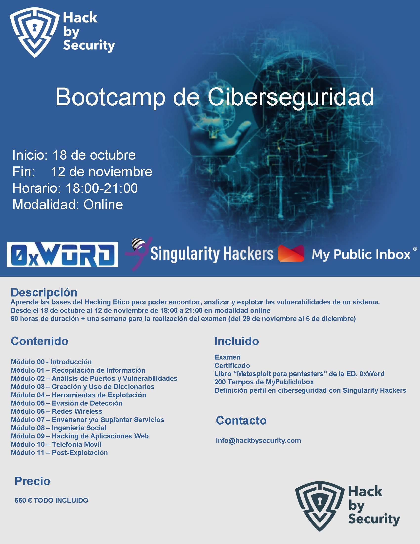 bootcamp fechas